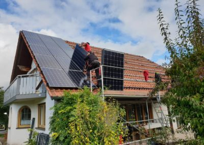 Installation of photovoltaic modules