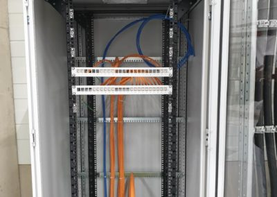 Electrical installation of network cabinet