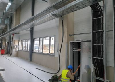 Electrical installation of distribution box and duct