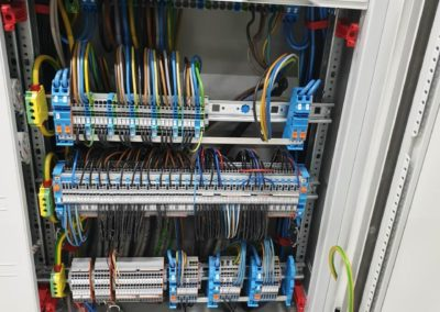 Electrical installation of the switchboard